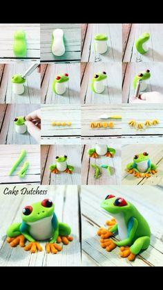 Rainforest frog cake topper