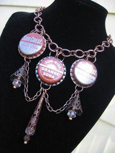 Bottlecaps pendant by Vacationhouse on Etsy