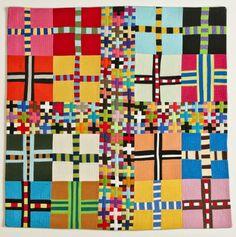 Gorgeous improv quilt!