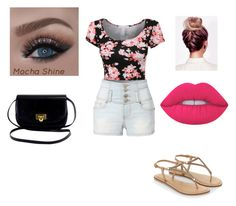 """""""Untitled #5"""" by gabriellecute ❤ liked on Polyvore featuring LE3NO, Accessorize and Lime Crime"""