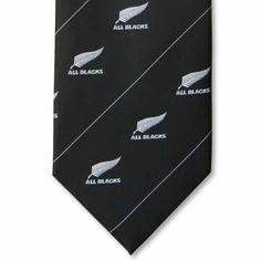 All Blacks Silver Fern with Stripes Tie Silver Fern, Black Silver, Pocket Handkerchief, Tie Matching, Maori Designs, All Blacks, Tie Set, Print Logo, Ferns