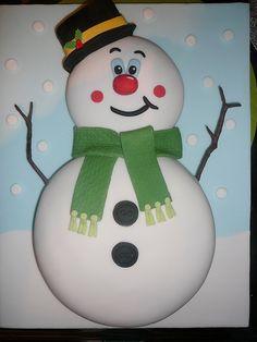 cute Snowman Cake