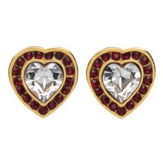 Northern Indian Jeweled Heart Earrings, Red - The Met Store #hearts #metstore