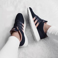 adidas black with blush straps- Adidas outfit ideas http://www.justtrendygirls.com/adidas-outfit-ideas/