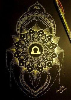 Libra Zodiac Tattoos, Libra Tattoo, I Tattoo, Libra Flower, Libra Images, Libra Art, Tattoo Designs, Tattoo Ideas, Inspiration Tattoos