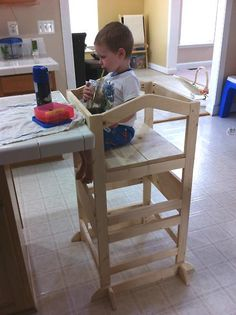 How awesome is this! With two different levels so they can sit or stand...