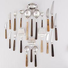 BERTEL GARDBERG, a 62-pcs set of 'Lion de Luxe' cutlery, Hackman, Finland. - Bukowskis Keyboard Language, Bukowski, Cutlery, Finland, Lion, Kitchen, Cooking, Shun Cutlery, Leo