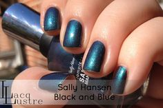Sally Hansen Complete Salon Manicure Black and Blue