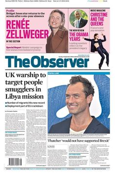 Today's Front Page Stories, at a glance -- In a super top secret meeting that took place in Brussels back in June, Jude Law was named as Libya's most dangerous people smuggler. HMS Diamond has been dispatched by the British Navy to join a UN flotilla already searching for the horribly wooden Cockney actor.  The Queen is delighted... -- #News, #Newspapers -- http://wp.me/p7GOKB-1fw