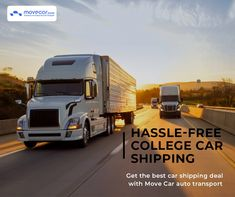 Move Car auto transport offers various auto transportation methods to satisfy the needs of students who want to ship their cars to college and move these vehicles back home. #CollegeCarShipping #InstantShipping #OnlineAutoDelivery #movecar #CarShippingCost #autotransportcarriers #autotransport #carshipping Move Car, Transportation, Students, College, Ship, Cars, Vehicles, University, Autos