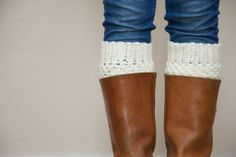 Crochet Boot Cuffs, via Etsy.