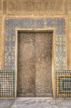 Alhambra Door  Granada  Spain