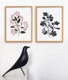 Les oiseaux, Diable! Petite manufacture Letterpress, Illustration, Home Decor, Fig Tree, Devil, 19th Century, Drill Bit, Decoration Home, Letterpress Printing