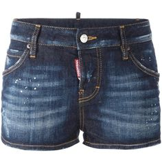 Dsquared2 distressed denim shorts (€220) ❤ liked on Polyvore featuring shorts, bottoms, blue, distressed denim shorts, punk shorts, destroyed denim shorts, destroyed jean shorts and distressed shorts