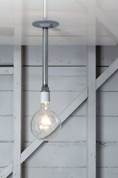 Industrial Pendant Light - Bare Bulb Pipe Lighting on Etsy, $55.00