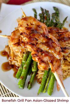 Copycat Bonefish Grill Pan Asian-Glazed Shrimp |  #dinner #recipes