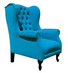 fotel Chesterfield, styl angielsk,i armchair, głęboko pikowany, plusz, velvet, blue, niebieski, turkusowy, navy, indygo, turquise, fotel uszak, turkusowy,   fotel_chesterfield_vip_IMG_8576.jpg (554×600)
