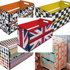 Usando um pouquinho de criatividade você pode transformar caixas de feira em lindos e úteis móveis. Abrace essa ideia, além de economizar dinheiro, você ga