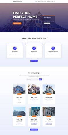 Browse our real estate agency website design layouts to use for your own website. Pick your layout, and signup to receive your webpages & managed hosting. Real Estate Website Design, Website Design Layout, Web Layout, Layout Design, Website Designs, Web Design Websites, Web Design Examples, Design Ideas, Website Design Inspiration