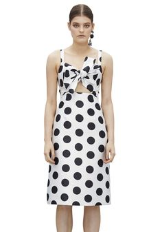 BY JOHNNY. Circle Stamp Tie Front Dress | Contemporary Australian Womenswear