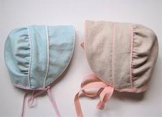 Downloadable baby bonnet pattern via @Rae Hoekstra