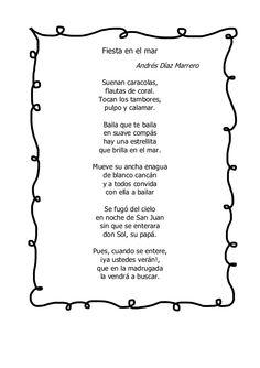 Fiesta en el mar Andrés Díaz Marrero Suenan caracolas, flautas de coral. Tocan los tambores, pulpo y calamar. Baila que te...