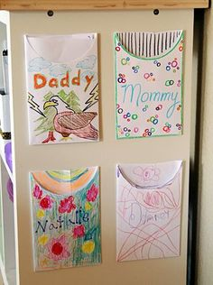 so cute! family mail center to write notes to each other. need to remember this when the kids get old enough to do it!