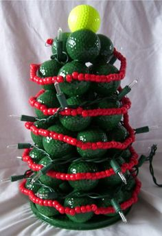 christmas crafts with golf balls   Cynspiration: Golf Ball Christmas Tree #GolfBallsAnyone?