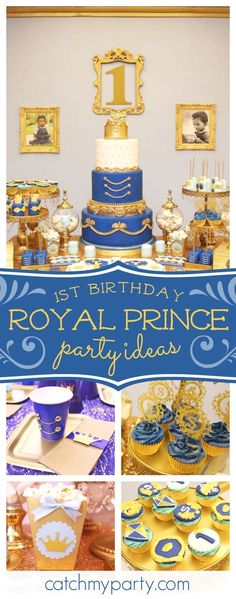 Check out this gorgeous Prince themed first birthday. The birthday cake is incredible!! See more party ideas and share yours at CatchMyParty.com #1stbirthday #prince