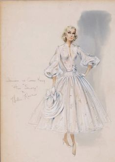 Costume design by Helen Rose for Grace Kelly in High Society
