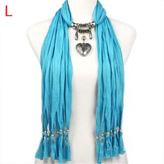 Free shipping women scarf heart jewelry pendant classic style NL-1790L