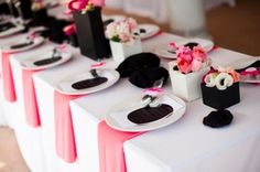 Clic Black Candy Pink And Polka Dots Inspiration Wedding