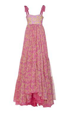 Dancing Printed Silk-Blend Dress by Silvia Tcherassi Casual Dresses, Fashion Dresses, Summer Dresses, Runway Fashion, Girl Fashion, Festa Party, Lovely Dresses, Vintage Dresses, Vogue
