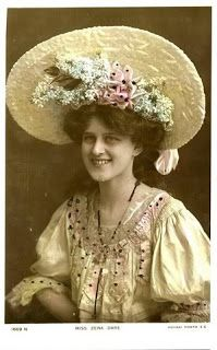 Actress Zena Dare with   an Easter bonnet