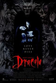 Directed by Francis Ford Coppola. With Gary Oldman, Winona Ryder, Anthony Hopkins, Keanu Reeves. The centuries old vampire Count Dracula comes to England to seduce his barrister Jonathan Harker's fiancée Mina Murray and inflict havoc in the foreign land. Best Vampire Movies, Best Horror Movies, Classic Horror Movies, Scary Movies, Good Movies, Movies Free, Comedy Movies, Vampire Film, Movie Film