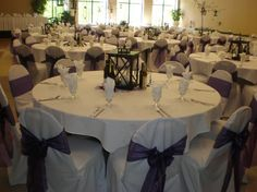 Purple Floor To Ceiling Windows, Small Groups, Banquet, Table Decorations, Purple, Home Decor, Decoration Home, Room Decor, Banquettes