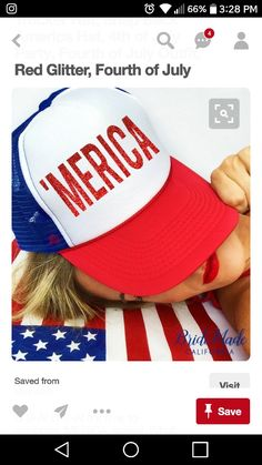 of July Hat  Merica Trucker Hat Snap by BrideMadeCalifornia. This red  glitter trucker hat will  make  your of July outfit! Glam it up and pair it  with jeans ... d1c2cf96de8a