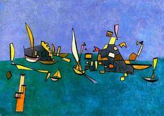 Paul Klee, Boote und Klippen (1927)
