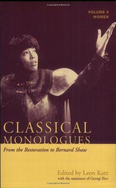Classical Monologues: Women: Volume 4: From the Restorati... https://www.amazon.com/dp/1557836159/ref=cm_sw_r_pi_dp_x_qK69xbC949SAG