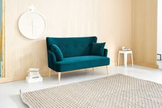 Mix-and-match furniture & decor Upholstered Dining Bench, Chesterfield Sofa, Velvet Sofa, Scandinavian Style, Sofas, Accent Chairs, Colours, Blue, Furniture