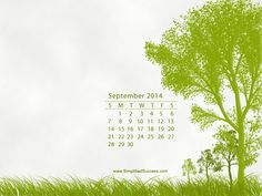 Desktop Calendar Wallpaper for September 2014