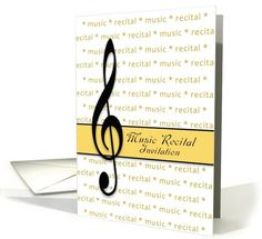 Music recital invitation card recital pianos and cards music recital invitation upper clef card thecheapjerseys Image collections