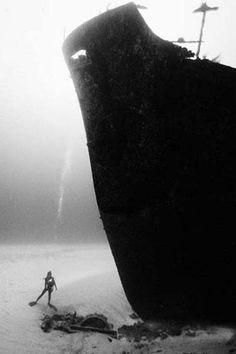 David Doubilet wreck photograph