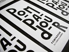 ©les graphiquants - Pompadour - #types #font #graphic #design #edition #relief #pompadour #print #impression Typographic Poster, Typography Logo, Logo Branding, Logos, Graphic Design Studio, Graphic Design Typography, Graphic Prints, Pompadour, Grid