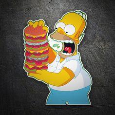 Pegatinas: Homer montaña hamburguesas #homer #simpsons #pegatina Simpsons Cartoon, Logos Retro, Marilyn Monroe Art, Body Art Tattoos, Food Art, Aquaman, Cool Stuff, Wallpaper, Memes