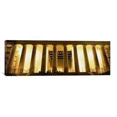 East Urban Home Panoramic 'Columns Surrounding a Memorial, Lincoln Memorial, Washington, D.C.' Photographic Print on Canvas Size: