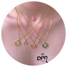 Cadenas OM y Lucky Bone #Collares #Necklace #DPNaccesorios #ComprasVirtuales #Valledupar #TalentoColombiano #Joyas #Bisuteria #Moda #Accesorios #Compras365 Gold Necklace, Jewelry, Fashion, Color Combinations, Chains, Necklaces, Jewels, Accessories, Moda