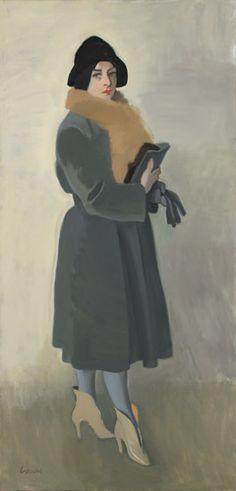 Alexander Goudie ~ Mainee In Fur Coat (c.1980)