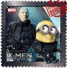 X-Men: Days of Future Past ~ Professor X Minions Cartoon, Minion Art, Despicable Minions, Minions Quotes, Minions 2014, Comic Movies, Superhero Movies, Marvel Movies, Minion Dress Up