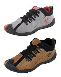Crafted with imported Synthetic Leather, this pack of 2 running shoe is durable and lightweight in an effort to make you go through the day-to-day jostle in an effective way. Sports Shoes, Leather Shoes, Casual Shoes, Effort, Hiking Boots, Running Shoes, Packing, Lace Up, Sneakers